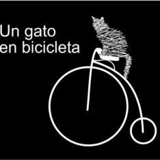 Un gato en biciclieta